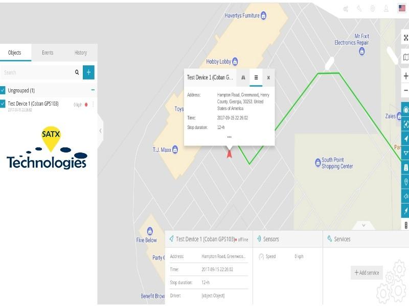 gps screenshot tracker