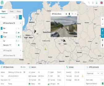 main screen dashboard gps tracker 2